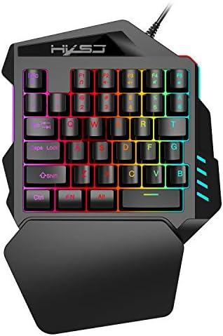 LW ゲーミングキーボード 片手キーボード メカニカル感触 ゲーミングマウス USB有線 RGBバックライト効果 (keyboard)