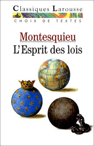 Download L'esprit Des Lois (Classiques Larousse) (French Edition) PDF