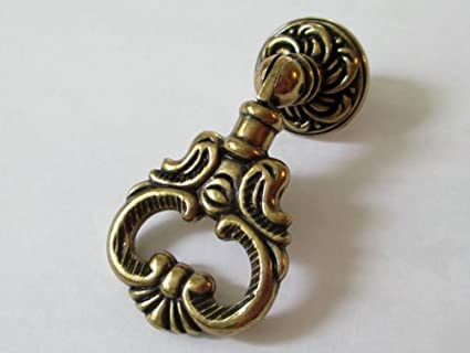 Cabinet Hardware Handle Pull Vintage Look Dresser Pulls Drawer Pull Knobs  Drop Ring Handle Antique Bronze - Cabinet Hardware Handle Pull Vintage Look Dresser Pulls Drawer Pull