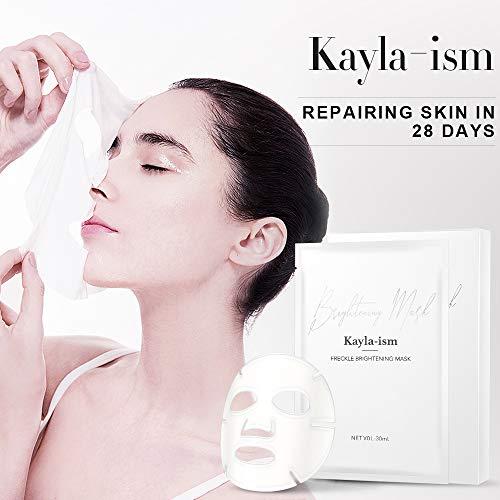41XYWYBhxyL - Kayla-Ism Facial Mask | Repairing Skin in 28 days | Collagen Mask Sheet with Jasmine essence| Long last Moisturizing Face Mask | Anti Aging Brightening Face Sheet Mask | Natural Face Mask Pack