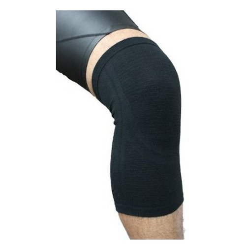 (Phiten Aqua Titanium Knee Support, Black, Small/Medium)
