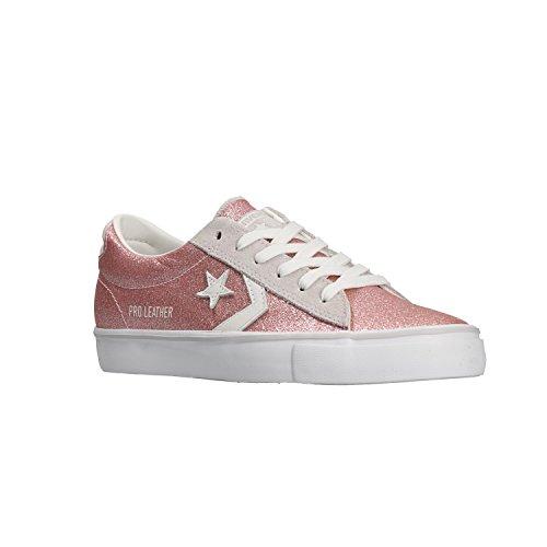 Sneakers Pink Pelle Bianco Donna Converse Rosa 560968C Scarpe Lacci Glitter wHO6fq