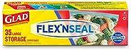 Glad Flex'nseal Food Storage Bags, Large - 35 c