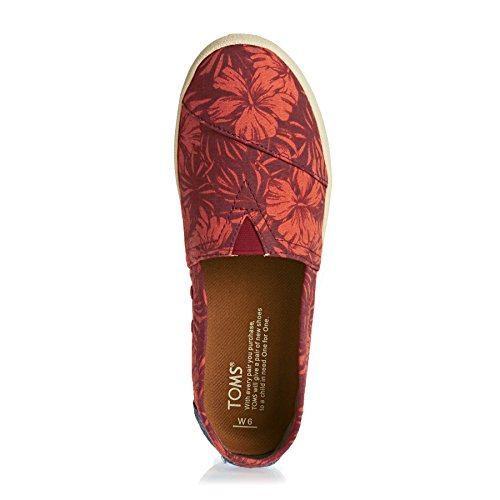 Canvas Tribal Woven Red TOMS Sneaker Womens Ink Hibiscus Multi Avalon ICgw8qZ