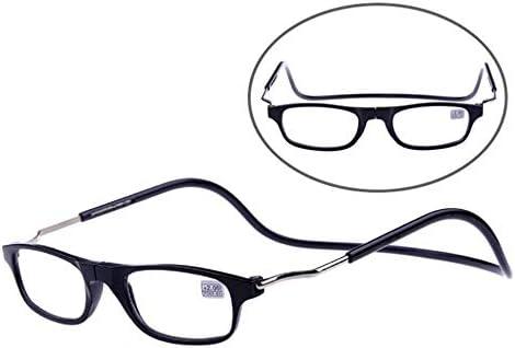 折りたたみ式老眼鏡、ハンギングネックリーダー、マグネット老眼鏡、スタイリッシュ(ブラウン)