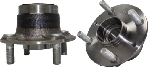 Ford Escort Wheel Bearing (Brand New (Both) Rear Wheel Hub and Bearing Assembly Mazda 323, MX-3,Protege FOrd Escort Mercury Tracer 4 Lug W/o ABS (Pair) 513030)