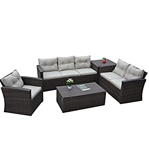 41XYZD1O9nL._SS300_ Best Wicker Patio Furniture Sets For 2020