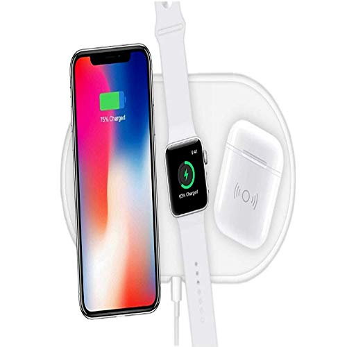 - Airpower Wireless Charger Pad 3in1 Qi Wireless Charger Holder for Apple Airpod 2,Faster Charging,2-3 Hours