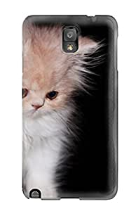 Anti-scratch And Shatterproof White Kitten Phone Case For Galaxy Note 3/ High Quality Tpu Case