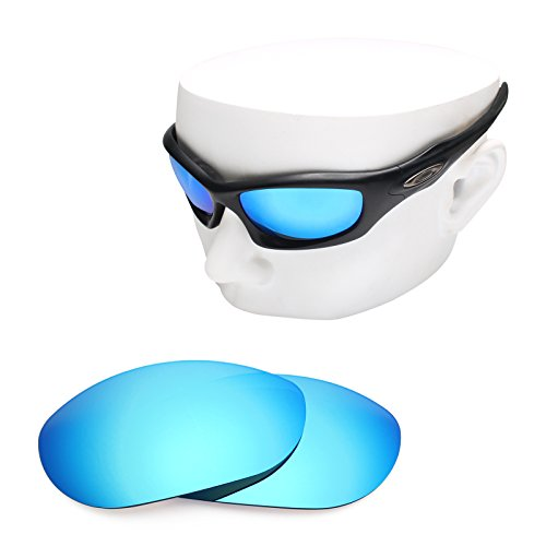 OOWLIT Replacement Sunglass Lenses for Oakley Monster Dog Blue Mirror - Monster High Sunglasses