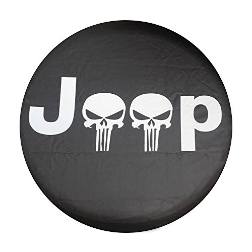Santu Small Skull Spare Wheel Tire Cover Fit Jeep Wrangler,Liberty Classic Grill R17 by Santu (Image #2)