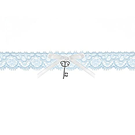 braut-strumpfband spitzenstrumpfband AZUL CON BLANCA ...