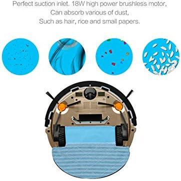 YAOLAN Aspirateurs robotiques, Robots ménagers ménagers intelligents Robot Chemin en Forme d\'arc Gyroscope Navigation Mémoire indépendante pour Les travaux sur sols durs et Tapis