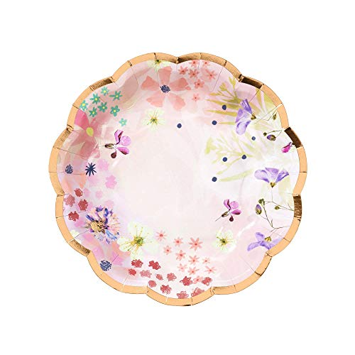 Talking Tables BG S Blossom Tea Party Floral Paper Plates, Pack of 12, Dia 17cm, 7