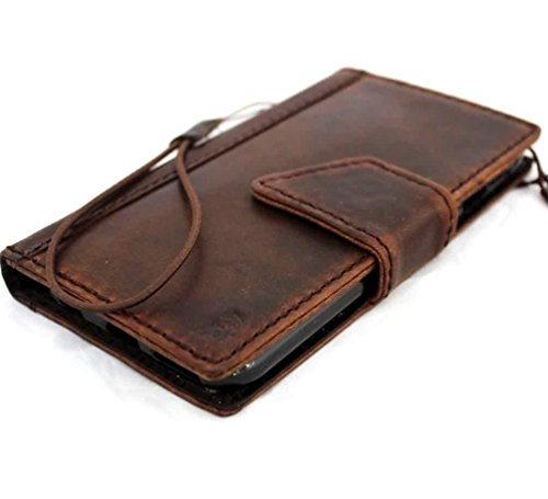 Genuine Italy Oil Leather Case for Iphone 6 Plus + Book Wallet Handmade Business Luxury Au -