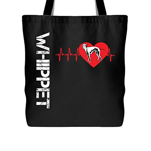 Whippet Tote Bag - Whippet In My Heart Women's Bags (Black Tote (Whippet Tote Bag)