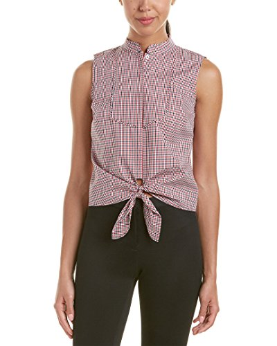 Brooks Brothers Womens Tie Top, 10, Red