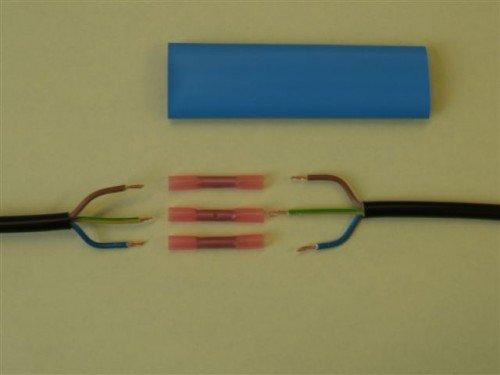 Fabulous Kabel Reparatur Set f Kabel 3x1,5mm² rot wasserdicht 4tlg: Amazon CC17