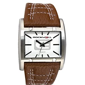 Rockwell Men's AP106 Apostle Brown Leather and White Dial Watch