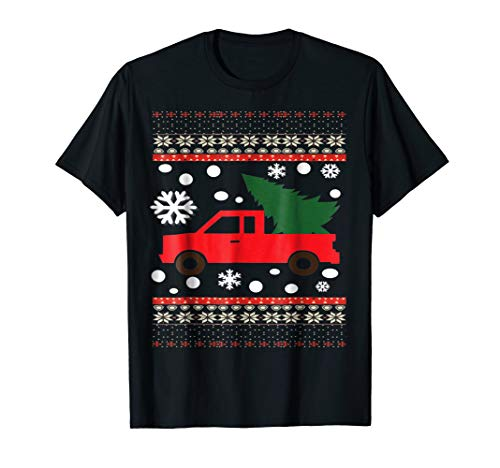 Merry Christmas Ugly Truck T Shirt