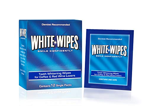 - White Wipes - Teeth Whitening Wipes Designed for Coffee and Red Wine Lovers