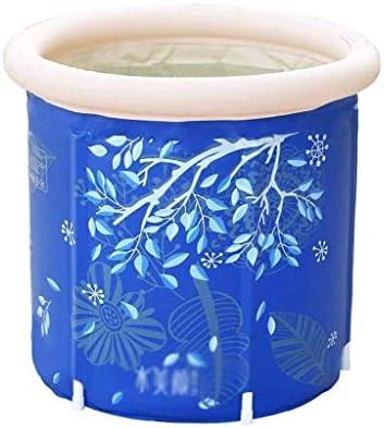 SHYPA エアーポンプブルーインフレータブルポータブルプラスチックバスタブ、大人浴室用PVCバスタブポータブルバスタブインフレータブルスパ大