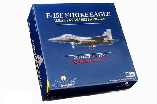 1:72 Witty Sky Guardians (シリーズ 2) WTW72006-11 ボーイング F-15E Strike Eagle ダイキャスト モデル USAF 48th FW, #91-