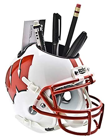 Schutt NCAA Wisconsin Badgers Football Helmet Desk Caddy