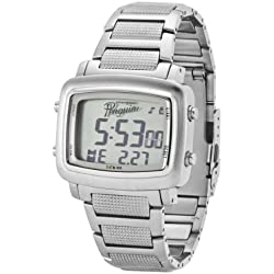 Original Penguin Men's OP3036SL Errol Silver Tone Stainless Steel Digital Watch