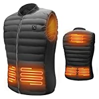 Deals on LIFEBEE Heated Vest Mens USB Electric Warm Clothes Heating Jacket