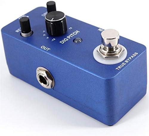 ギターエフェクター エフェクトペダルピッチシフトポータブルピッチシフターギターハーモニーエフェクト亜鉛合金ボディトゥルーバイパス ディストーション (Color : Blue, Size : Free size)