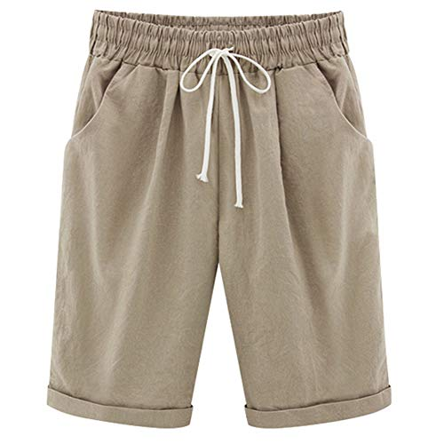 XinDao Women's Outdoor Super Comfy Bermuda Hiking Shorts Khaki US L/Asia 4XL