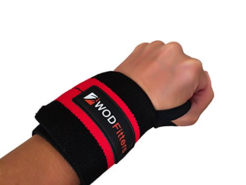 "WODFitters Wrist Wraps – Increase Your Wrist Strength and Avoid Injury during Weightlifting, Cross Fitness Training, Powerlifting, Bodybuilding with These Sports Wristbands (18"")"
