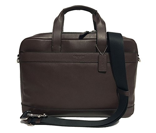 ef83bff0fc COACH Men s F54801  450 Leather Hamilton Briefcase Crossbody Laptop ...