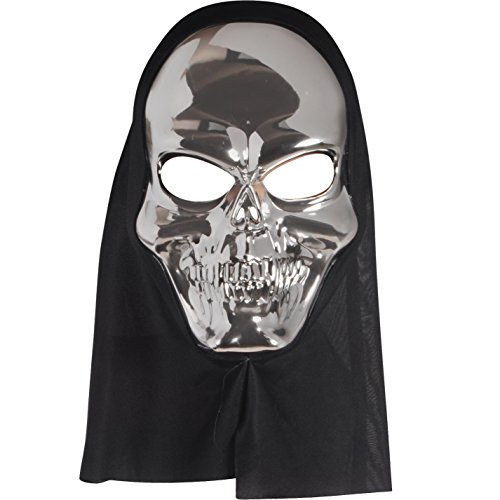 Loftus International Star Power Reflective Skull Face Mask Silver One-Size (Adult) Novelty Item]()