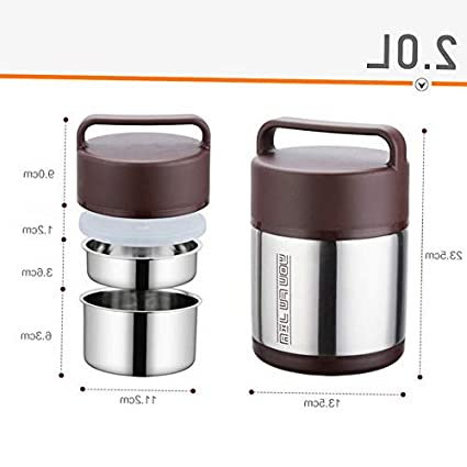 26f75c355b06 Amazon.com: Mikash Picnic Stainless Steel Food Container Thermal ...