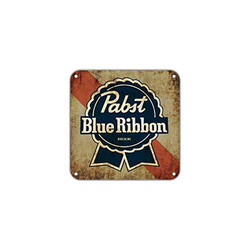 (Pabst Blue Ribbon Beer Vintage Retro Metal Wall Decor Art Shop Man Cave Bar Garage Aluminum 12
