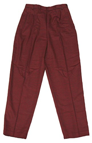Liz Claiborne Women's Red Houndstooth Dress Pants Looking Glass Collection Size 8 from Liz Claiborne