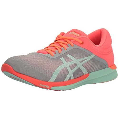 asics Fuzex Rush Shoes Damen midgreybayflash coral günstig