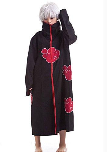 Japanese Anime Costumes Cosplay Costumes Naruto Akatsuki Ninja Cloak (XL(170-180cm))