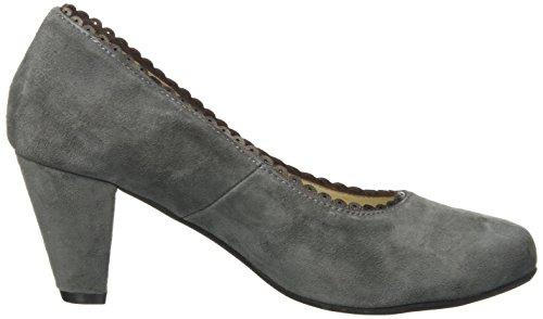 Tacón de Cerrada Zapatos con 261 para Mujer Gris Punta 3009200 261 Hirschkogel Schiefer wTHAqxtZt