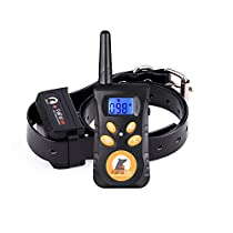 Dog Training Collar,BumPov Pets Training System 550 yd Extensive Range Rechargeable and Rainproof Remote Dog Shock E-Collar for Large Dogs,with Beep,Vibration and Shock Electronic Collars