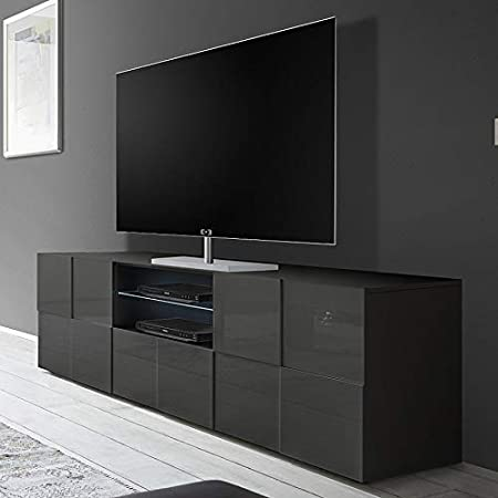 Kasalinea Domos 2 - Mueble para televisor, Color Gris Lacado Brillante: Amazon.es: Hogar