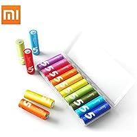 10PCS Original XIAOMI ZMI ZI5 AA lkaline Battery Rainbow Disposable Batteries Kit for Camera Mouse Keyboard Controller Toys Cell