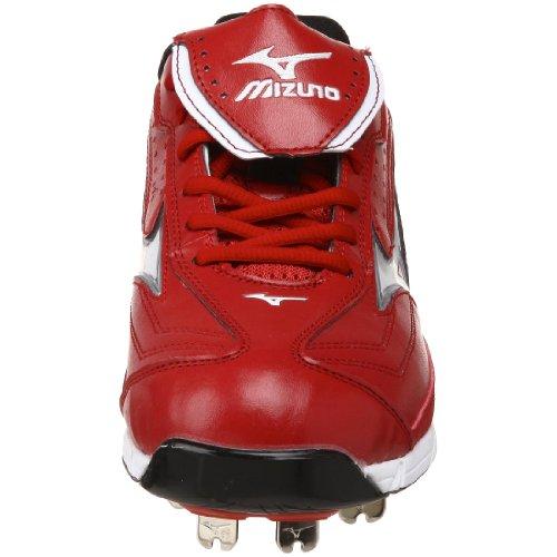 Mizuno Herren 9-Spike Classic G6 Low Switch Baseballschuh Rot-Weiss