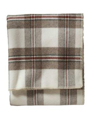 Eco-Wise Wool Plaid stripe Blanket by Pendleton