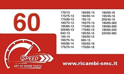 Catene da Neve OMOLOGATE Speed 9mm per Pneumatici 185//55 R15 Gruppo 60