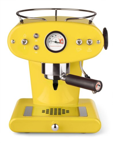 Francis Francis X1 Ground Coffee Machine, Yellow by Francis Francis by illy by Francis Francis by illy
