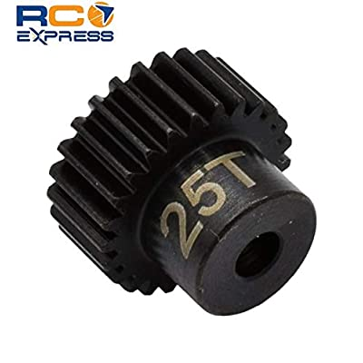 Hot Racing CSG1825 25t 48p Hardened Steel Pinion Gear 1/8 Bore: Toys & Games