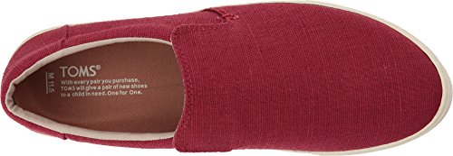 Toms Mens Lomas Slip-on Henna Red Heritage Canvas 13 D Us